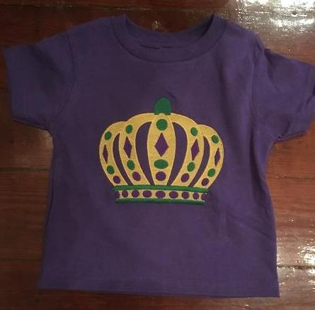 MARDI GRAS CROWN Kids T Shirt