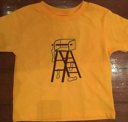 MARDI GRAS LADDER Kids T Shirt Mardi Gras Gold