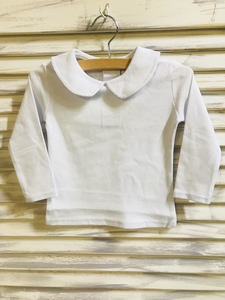 KNIT PETER PAN COLLAR UNISEX SHIRT LONG SLEEVE