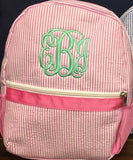 MONOGRAM SEERSUCKER BACKPACK