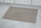 EMBROIDERED BATH MAT 2PC TAUPE SET