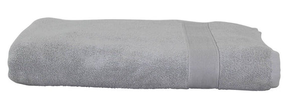 EMBROIDERED LUXURY COTTON BATH SHEET GREY