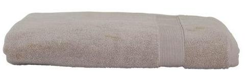 EMBROIDERED LUXURY COTTON BATH SHEET TAUPE