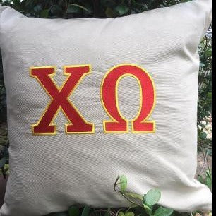 EMBROIDERED SORORITY BIG  PILLOW