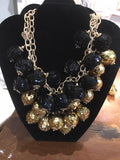 NECKLACE SEQUIN BALLS BLACK