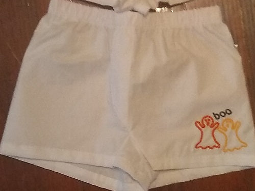 EMBROIDERED GHOSTS BABY BOXERS DIAPER COVER