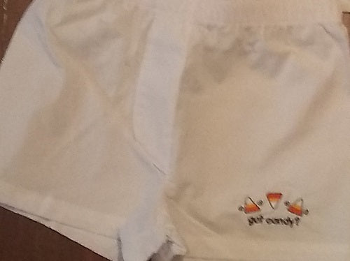 EMBROIDERED CANDY CORN BABY BOXERS DIAPER COVER