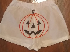 EMBROIDERED PUMPKIN BABY BOXERS DIAPER COVER