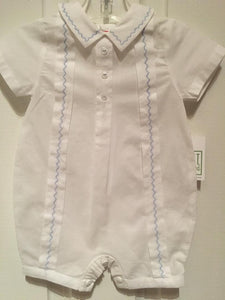 BABY BOYS ONE PIECE ROMPER WITH EMBROIDERED STITCHES