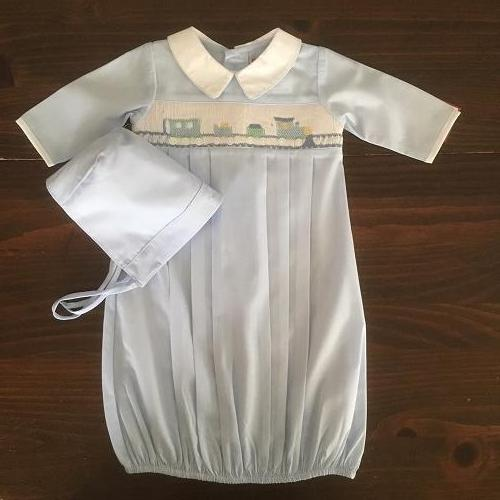 SMOCK BOYS GOWN AND BONNET