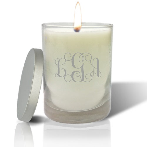 MONOGRAM CANDLE WITH LID