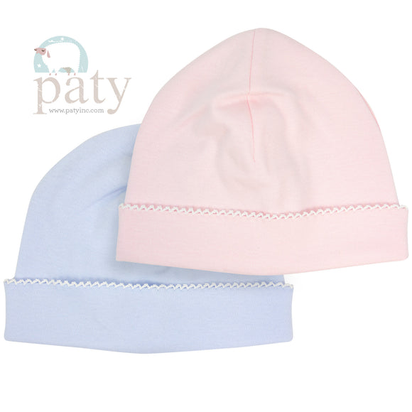 KNIT INFANT CAP BLUE