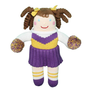 LSU CHEERLEADER KNIT DOLL
