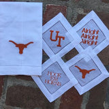 EMBROIDERED GUEST TOWEL UT's LONGHORN