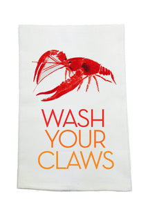 WASH YOUR CLAWS KITCHEN TOWEL