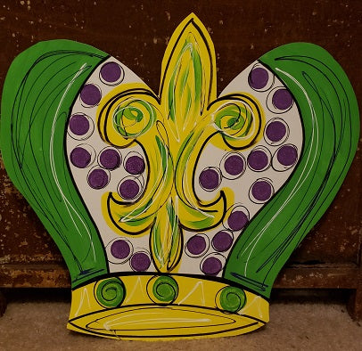 MARDI GRAS DOOR HANGER CROWN