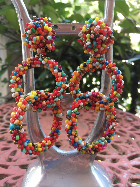 EARRINGS MULTI COLOR BEADS