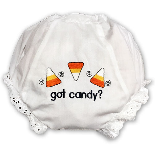 EMBROIDERED GOT CANDY BABY EYELET DIAPER COVER OR PANTY