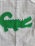 ALLIGATOR APPLIQUE CHECK BOYS JOHN JOHN