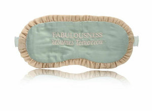 SILK SLEEP MASK 'FABULOUSNESS RESUMES TOMORROW'