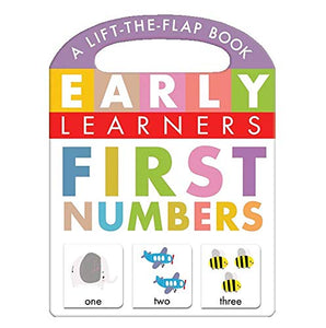 First Numbers, A Lift-the-Flap Book - Little Hippo Books - Children's Learning Board Book Board book