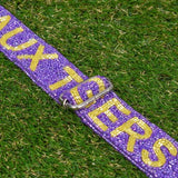 BEADED BAG STRAP LSU PURPLE & GOLD