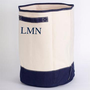 MONOGRAM CANVAS HAMPER