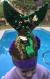 MARDI GRAS SEQUIN MERMAID TAIL HAT