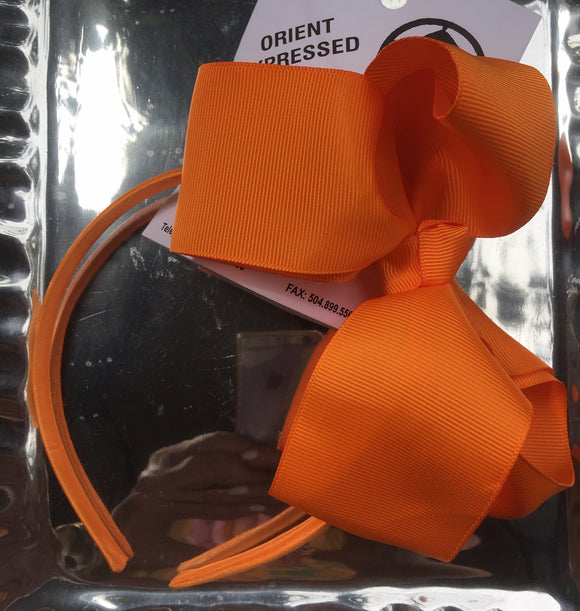 HEADBAND HAIRBOW ORANGE