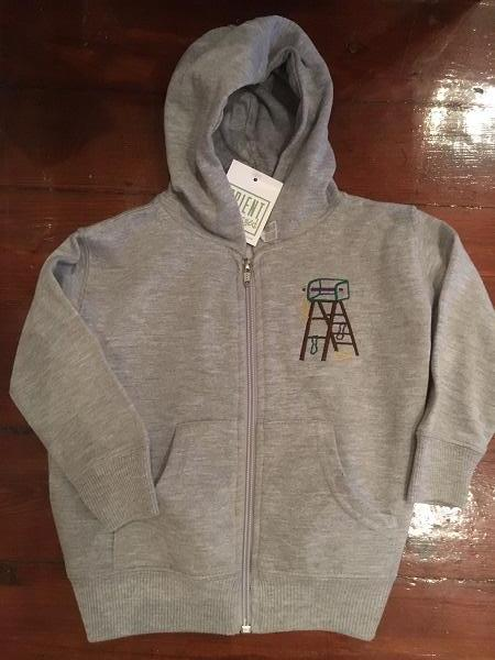 MARDI GRAS LADDER KIDS ZIP FRONT HOODED SWEATSHIRT
