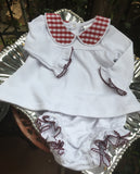 LAYETTE 2 PIECE BLOOMER CHECK SET
