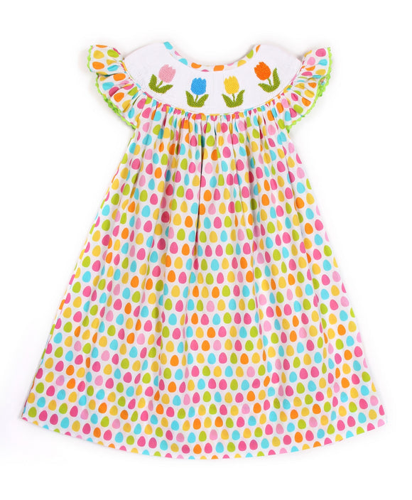SMOCK BISHOP DRESS TULIP PRINT