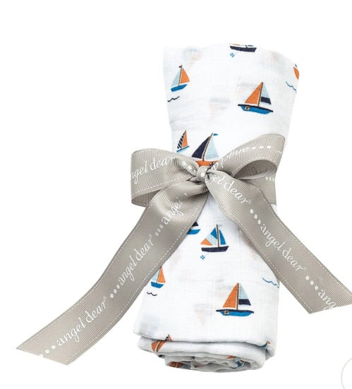 SAILBOAT SWADDLE BLANKET