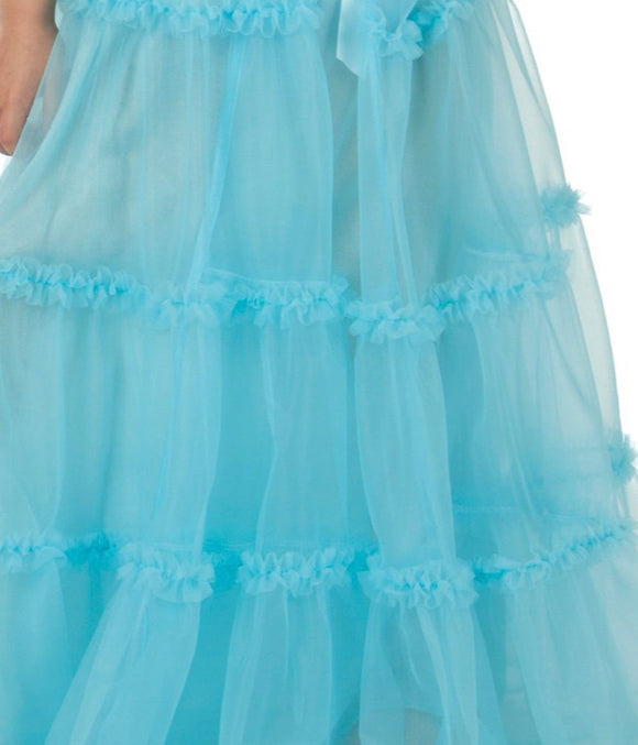 PRINCESS NIGHTGOWN SET ICE BLUE