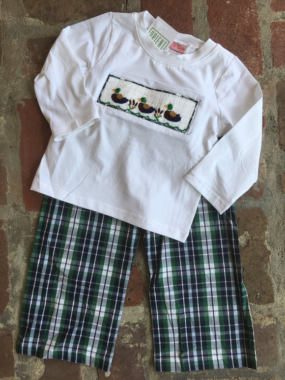 DUCK SMOCK BOYS 2pc OUTFIT