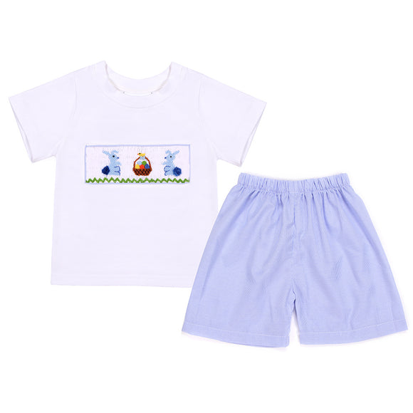 EASTER SMOCK BOYS SHORT SET