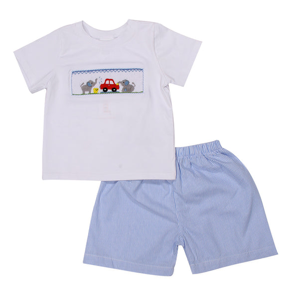 ELEPHANT SMOCK SHORT SET