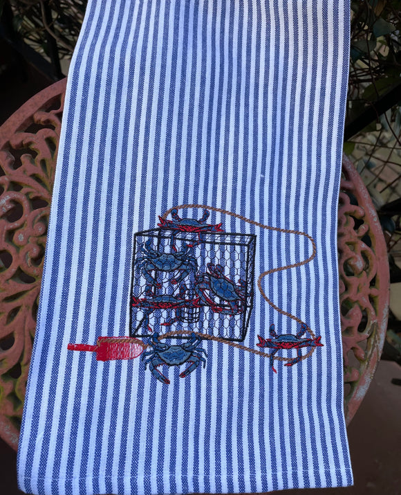 CRAB TRAP KITCHEN TOWEL