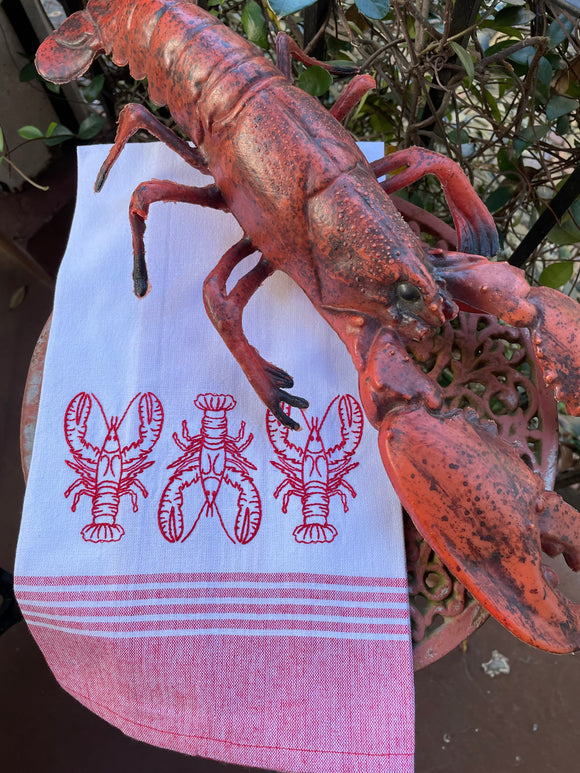 TRIO OF CRAWFISH KITCHEN TOWEL