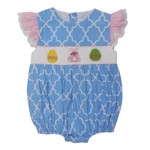 SMOCKED PRINT EASTER BUBBLE