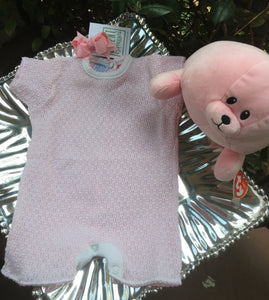 LAYETTE Onesie boucle pink