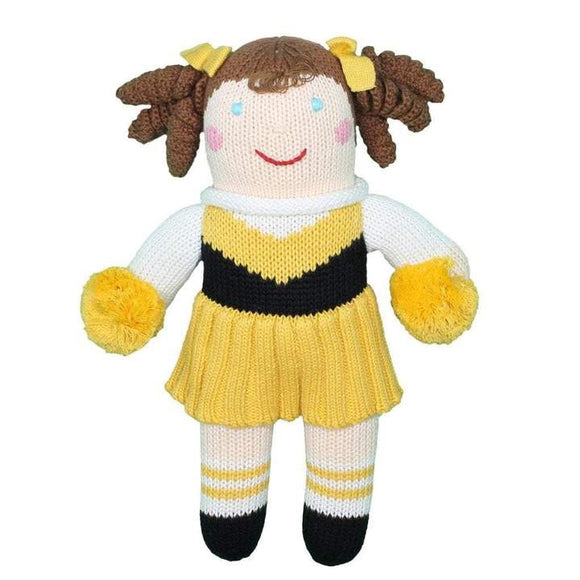 SAINTS CHEERLEADER KNIT DOLL
