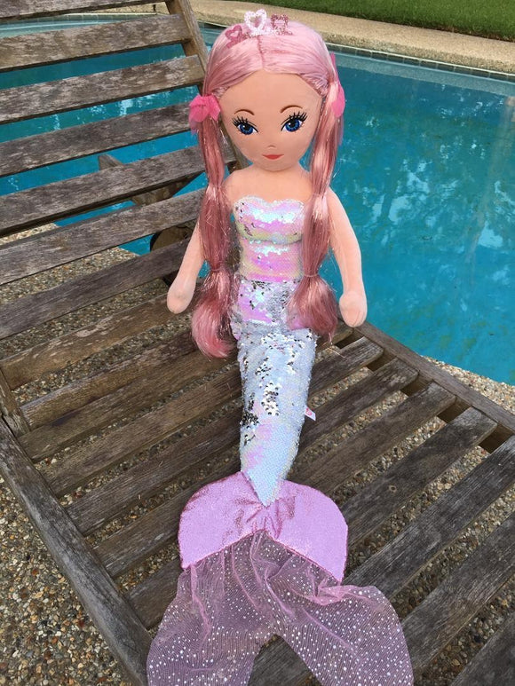 Ty CORA Mermaid - Sequin Pink Medium Mermaid