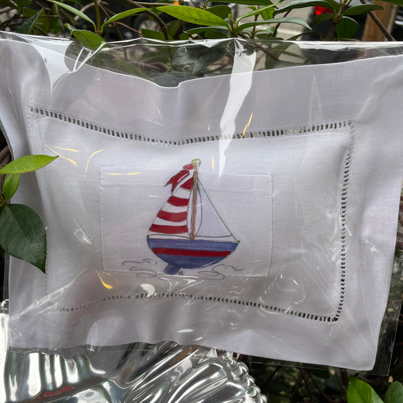 TOOTH FAIRY PILLOW SAILBOAT