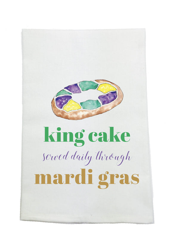 KING CAKE SERVED DAILY TOWEL