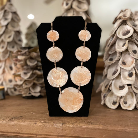 NECKLACE CORAL SHELL DISKS