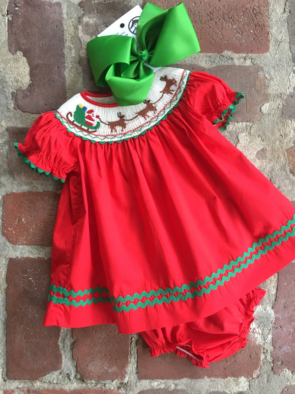 SMOCK CHRISTMAS DRESS REINDEER