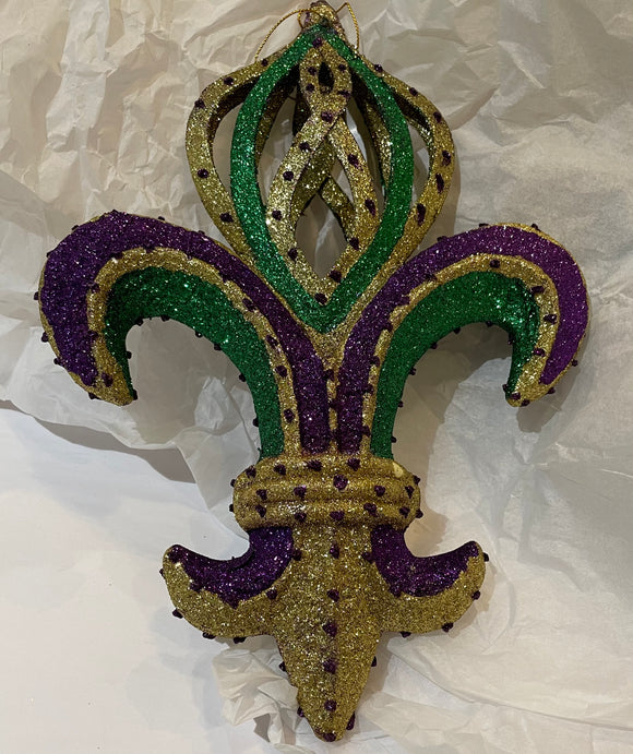 DECORATIVE FLEUR DE LIS ORNAMENT