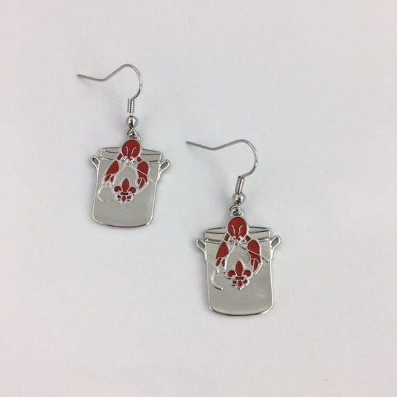 CRAWFISH POT EARRINGS