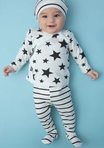STAR PRINT (AND STRIPES) 2PC SET
